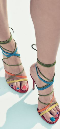 Gianvito Rossi Strappy Suede Sandals