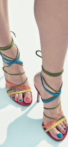 Gianvito Rossi Strappy Suede Sandals