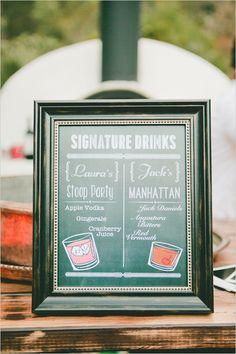 Signature wedding cocktail ideas @weddingchicks