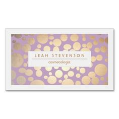 Faux Gold Leaf Cosmetologist Purple Stylist Business Card. I love this design! It is available for customization or ready to buy as is. All you need is to add your business info to this template then place the order. It will ship within 24 hours. Just click the image to make your own!