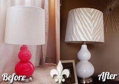 DIY zebra lampshade!