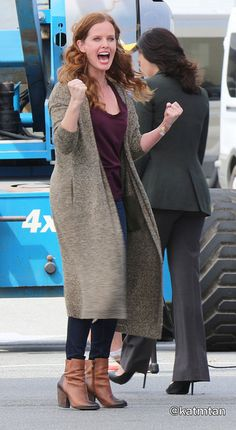 Rebecca Mader On Set July 17, 2015. Oh No! Did Someone Free Zelena From Her Cell? BAD IDEA! #LongLiveOutlawQueen