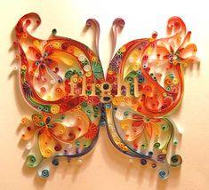 Quilling farfalla artistica