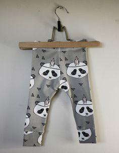 Leggings Panda Gray via Stoj Design. Click on the image to see more!