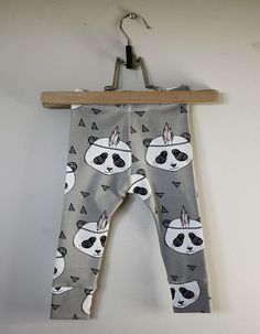 Leggings Panda Gray via Stoj Design. Click on the image to see more!
