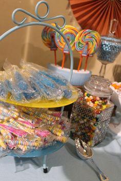 Southern Vintage Wedding Rentals- vintage glassware for candy bar