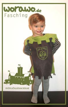 Kostüme & Verkleidung - Ritterkostüm mit individueller Beschriftung - ein Designerstück von worawo bei DaWanda