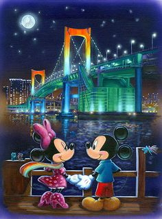 Annick Biaudet - Mickey Mouse - Last Night - Minnie - world-wide-art.com