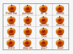 Pass the Pumpkin song, slides, lesson. FREE!