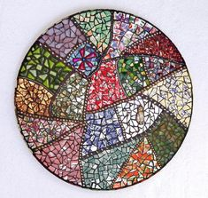 Gramma's Quilt Crazy Quilt Mosaic Glass China by JooolesDesign, $185.00