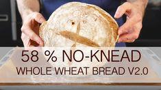 No-knead 58% whole wheat bread recipe - version 2