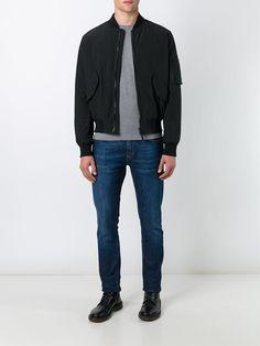 #aspesi #men #padded #blak #bomber #jacket #fashion #style
