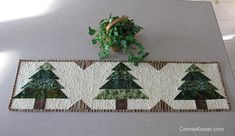 This Christmas Tree Runner Tutorial is fast and easy to make and would be beautiful to have on your table during the holidays. Christmas Tree Quilt Block, Christmas Tree On Table, Christmas Patchwork, Christmas Quilt Patterns, Christmas Placemats, Christmas Runner, Christmas Sewing, Simple Christmas, Christmas Quilting
