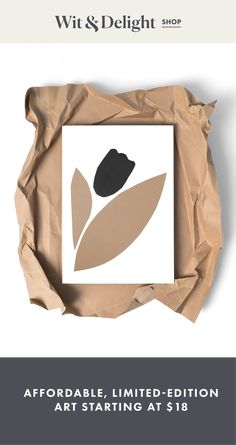 The Minimal Tulip by Wit & Delight, now available online in 3 sizes. Fruit Illustration, Floral Illustrations, Cool Designs To Draw, Tulip Drawing, Wit And Delight, Small Canvas Paintings, Framing Photography, Mid Century Modern Art, Minimalist Art