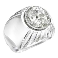 Suzanne Belperron, A Rock Crystal and Diamond Ring   See more rare vintage More Rings at http://www.1stdibs.com/jewelry/rings/more-rings
