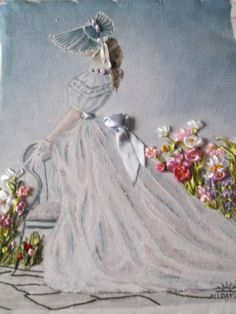 silk ribbon doll embroidered floral pictures - Поиск в Google