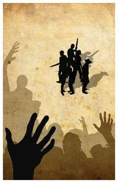 The Walking Dead Poster Minimalist TWD Print by MINIMALISTPRINTS