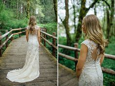 lace wedding gown with open back