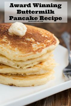 The BEST homemade buttermilk pancakes These are very good very light my husband loved them.  I have been experimenting for awhile for pancake that is really light as my husband likes them this is it.