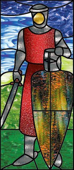 Stained Glass Knight Stock by Viktoria-Lyn.deviantart.com on @DeviantArt