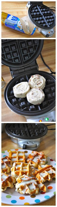 joysama images: Cinnamon roll waffles