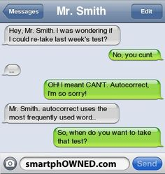 15 Shockingly Perfect Auto-corrects - Autocorrect Fails and Funny Text Messages - SmartphOWNED