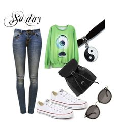 """So day"" by solbranca ❤ liked on Polyvore featuring Anine Bing, Converse, NLY Accessories and Moncler"