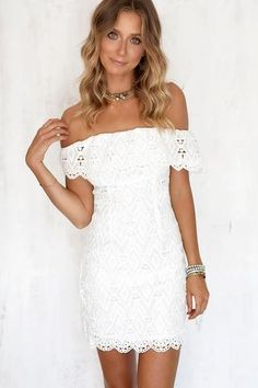 577c2fa87355 Moon for you Off Shoulder Lace Bodycon Dress · Sexy Summer DressesMini  DressesParty DressesCasual Dresses For WomenClub ...