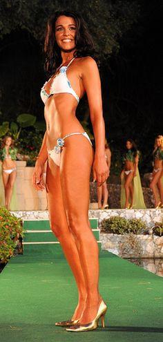 Miss World 2009 - Kaiane Aldorino (Gibraltar) Miss World, Bikinis, Swimwear, Thong Bikini, Beauty, Women, Fashion, Bathing Suits, Moda