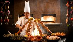 Saffron Restaurant at Atlantis, The Palm has 20 live cooking stations and an incredible buffet selection.