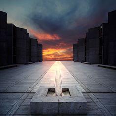 "modern interior design: Louis I. Kahn Architect - ""Salk Institute ..."