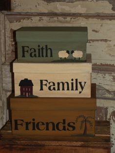 Faith Family Friends Nesting Boxes