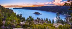 My newest release! Oversized Landscape Panorama, Lake Tahoe Large Canvas, Emerald Bay, Sierra Nevada Lake Print, Lake Tahoe Fine Art, Museum Grade Gallery Wrap by SusanTaylorPhoto on Etsy