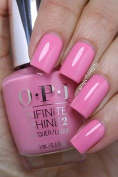 I am so excited to show you the gorgeous new OPI Infinite Shine Spring 2016 Collection. I am so impressed with the Infinite Shine polishes, this line feels so luxurious. Elegant Nails, Stylish Nails, Hot Nails, Pink Nails, Opi Nail Colors, Deco Rose, Acryl Nails, Uñas Fashion, Pretty Nail Art