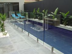 Truly speaking, when it comes to purchasing the best security appliance for swimming pool, in Sydney, installing a glass pool fence is a smart choice among most of the people today. Glass Pool Fencing, Glass Fence, Glass Railing, Pool Fence, Backyard Fences, Stone Fence, Brick Fence, Front Yard Fence, Fenced In Yard