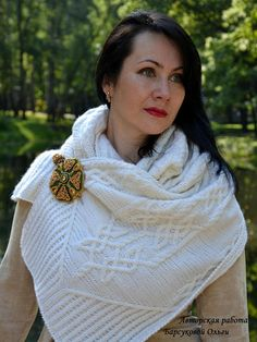 long warm cozy hand knit scarf traditional celtic aran merino