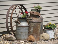 I have a display similar to this on the porch of our log house...love it.