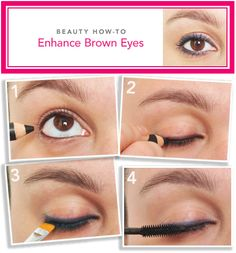 Beauty How to?  Enhance Brown eyes...This is a fast & easy How to...natural & looks great...Less really is sometimes more...Don't you think? ~Kimberly Robyn