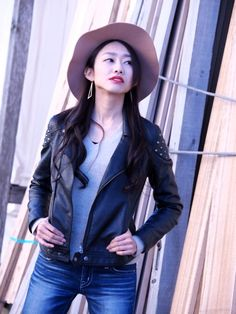 Leather Jacket, Denim, Jeans, Jackets, Moussy, Fashion, Style, Studded Leather Jacket, Down Jackets