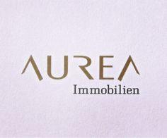 Wortbildmarke für AUREA Immobilien Entwicklung in Wien. Logo Design, Web Design, Corporate Design, Logos, Real Estate Logo, Design Web, Brand Design, Logo, Site Design
