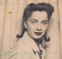 """Vintage Photo Booth Picture - """"With Passion"""" written on the photo! Ruth- 1940s"""