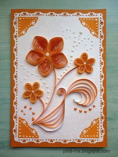 love! :) Arte Quilling, Paper Quilling Cards, Paper Quilling Flowers, Quilling Work, Paper Quilling Patterns, Origami And Quilling, Quilling Designs, Quilling Craft, Paper Quilling For Beginners