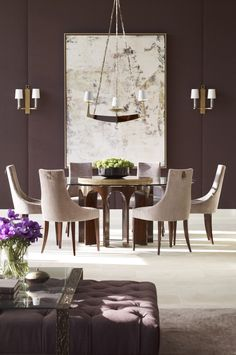 Dining room in amethyst