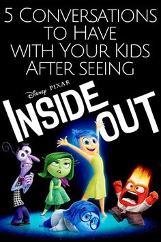 These are great talking points for conversations to have with your kids after seeing Disney Pixar's  Inside Out