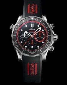 Omega Seamaster 300M Chrono Diver Emirates Team New Zealand Steel Watch 212.32.44.50.01.001
