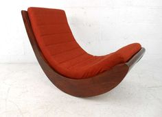 verner panton attributed rocking chair relaxer relaxer mid