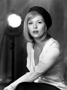 Faye Dunaway on the set of Bonnie and Clyde, 1967
