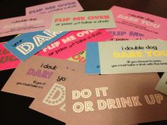 Great party game #darecards