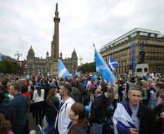 George Square Glasgow....2 days before the vote for scottish independence