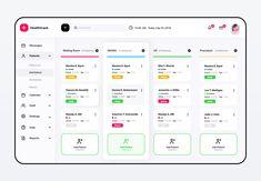 Healthtrack Desktop App by ~ EpicPxls App Ui Design, Page Design, Web Design, Dashboard Template, Dashboard Ui, Alarm App, Mobile Application Design, Ui Web, Social Media Pages